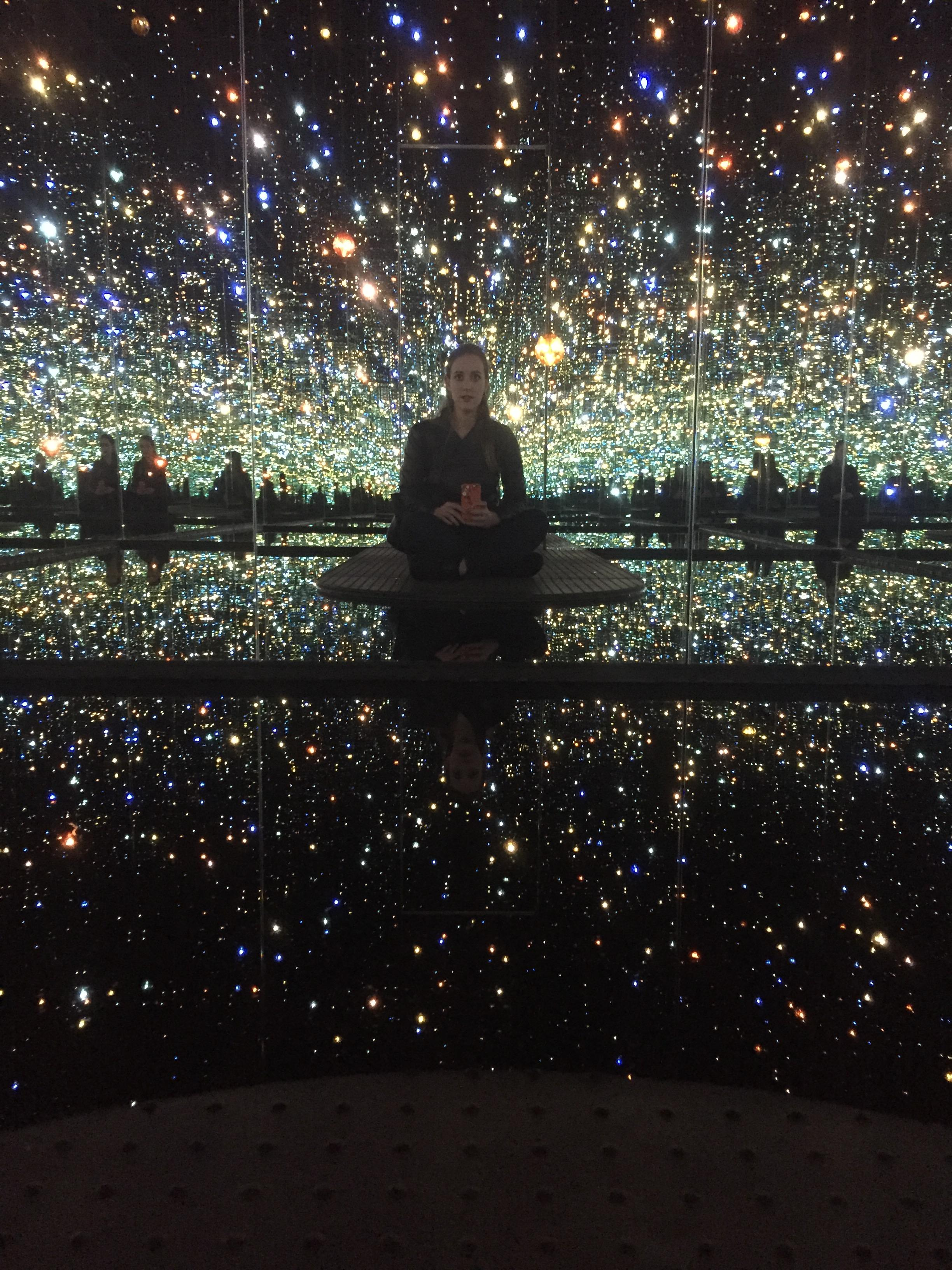 Carolyn in an Infinity Mirrored Room